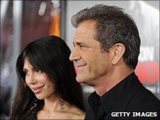 Oksanka Grigorieva and Mel Gibson