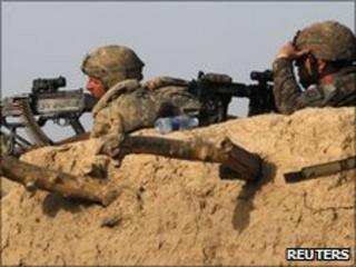 US soldiers in Arghandab District, north of Kandahar. File pic