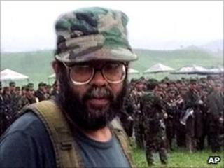 The Farc leader, Guillermo Saenz, known as Alfonso Cano