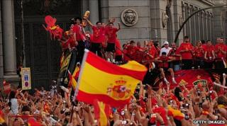 Victory celebration in Madrid, 12 Jul 10