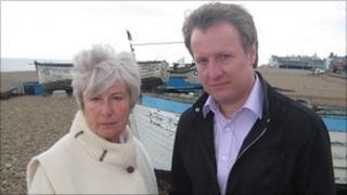 Sue Murton with presenter Andy Verity