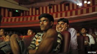 """Cinemagoers watch """"DDLJ"""" in Mumbai on 11 July 2010"""