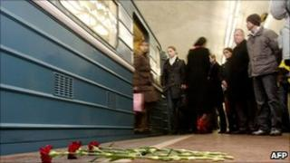 Lubyanka metro station shortly after bombing, 29 March 10