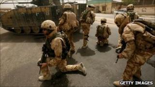 British troops in Basra in 2006