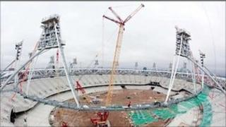 Stadium under construction