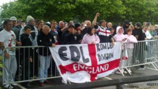 EDL protest on Saturday in Dudley