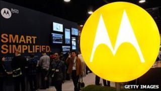 Motorola logo at trade fair