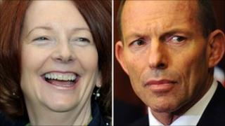 Prime ministerial candidates Julia Gillard and Tony Abbott