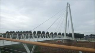 New cycle and footbridge in Worcester