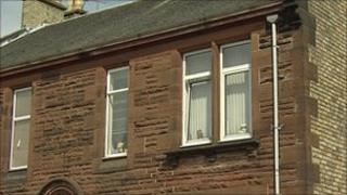The flat in Kilmarnock where the baby died