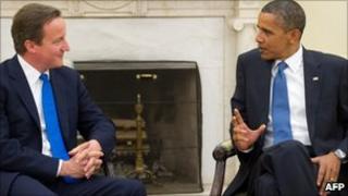 David Cameron and Barack Obama in talks