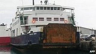 MV Princess Ashika ferry in Nuku'alofa (file)