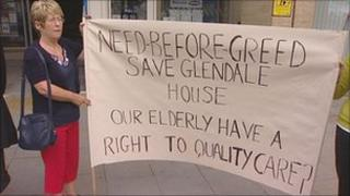 care homes closure protest