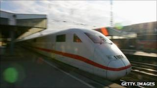 An ICE train in Germany - file pic