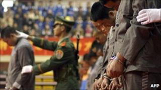 China sentencing rally (file image)