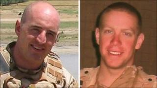 L/Cpl Monkhouse (left) and Cpl Stenton were shot dead as they rescued a wounded colleague