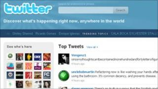 Twitter homepage, Twitter