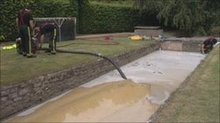 Milk being removed from Wellow Brook