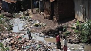 Kibera is Kenya's largest slum (file picture)
