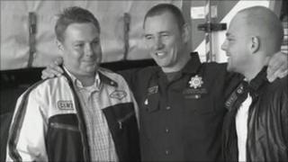 Andrzej Jakubowski, Dean Seaward (centre) and Michal Jakubowski
