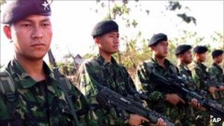 Gurkha troops