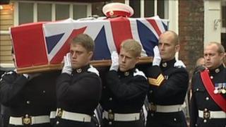 Funeral of Royal Marine David Hart