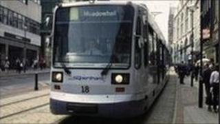 Tram in Sheffield