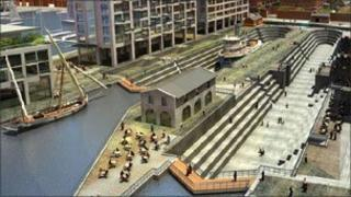 Artist's impression of Liverpool Waters