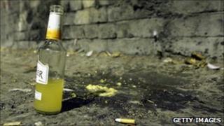 Alcoholic drink on street generic