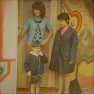 George Harrison with Sue Baker and her brother Phillip