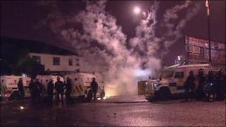 Overnight riots in Ardoyne