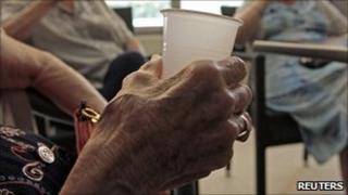 Hand of elderly person (generic)