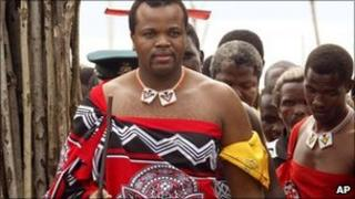 Swaziland's King Mswati III photographed in November 2003