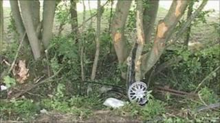 Scene of A20 crash