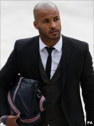 Ricky Whittle, arriving at court