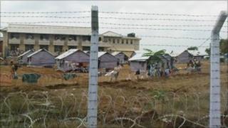 Camp holding former Tamil Tigers rebels in northern Sri Lanka