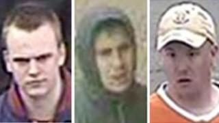 Three of the men being sought by police