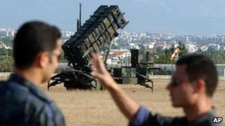 A Patriot anti-ballistic missile launcher (archive image from Greece)