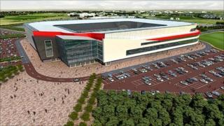 Impression of new stadium