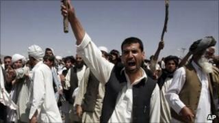 Protest near Kabul