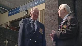 Veterans outside the service in Liverpool