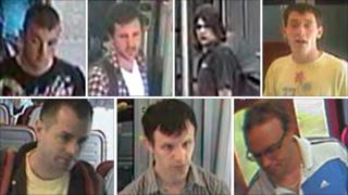 CCTV of the men police want to trace