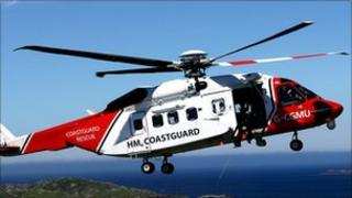Coastguard rescue helicopter / Sikorsky S92