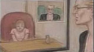 The girl gave evidence by videolink from another room in the court