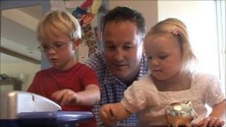 Dan Brett and children