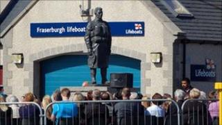 Fraserburgh lifeboat memorial statue. Pics by David Tait