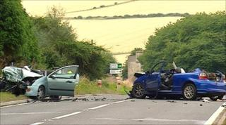 crash at A92 in Fife