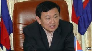 Ousted Thai leader Thaksin Shinawatra (file image from 13 December 2009)