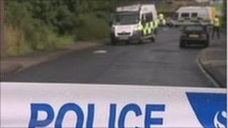 Scene of North Tyneside shooting