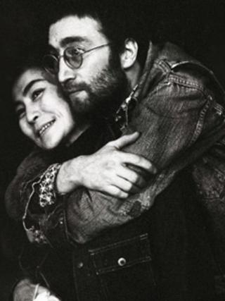 John Lennon and Yoko Ono pictured by Bill Zygmant in 1970